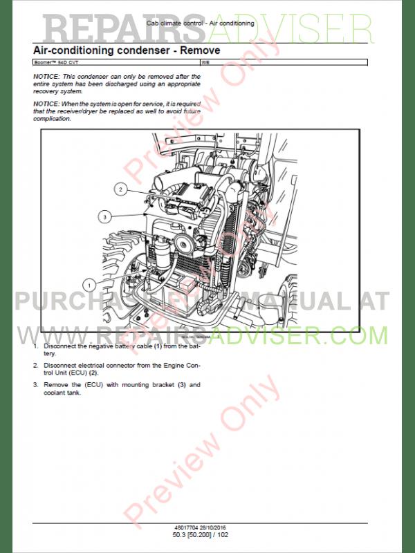 New Holland Tractor Boomer 54D CVT Tier4B Service Manual